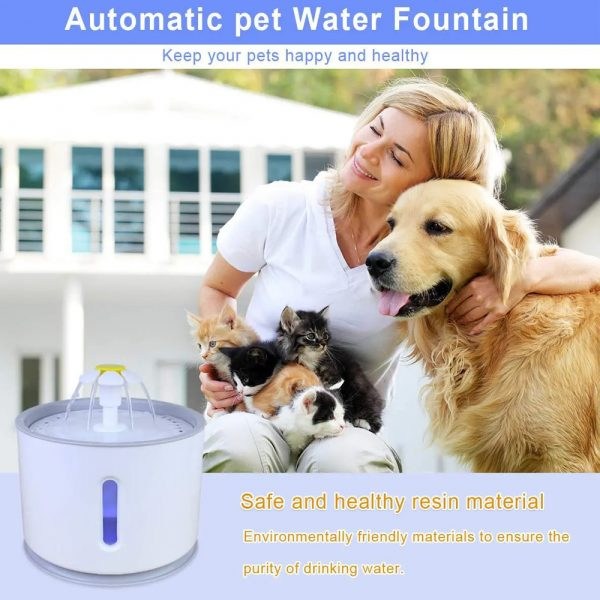 Automatic Pet Water Fountain with Pump and LED Indicator_12