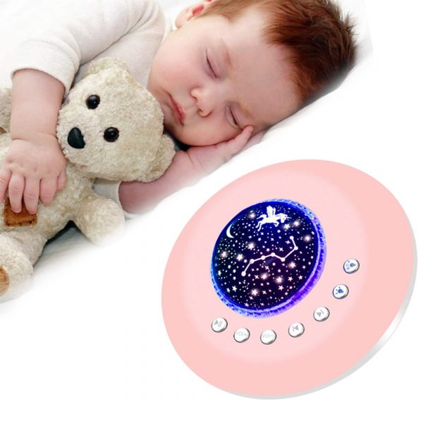 Multifunctional White Noise Machine with Star Projector Lamp_3
