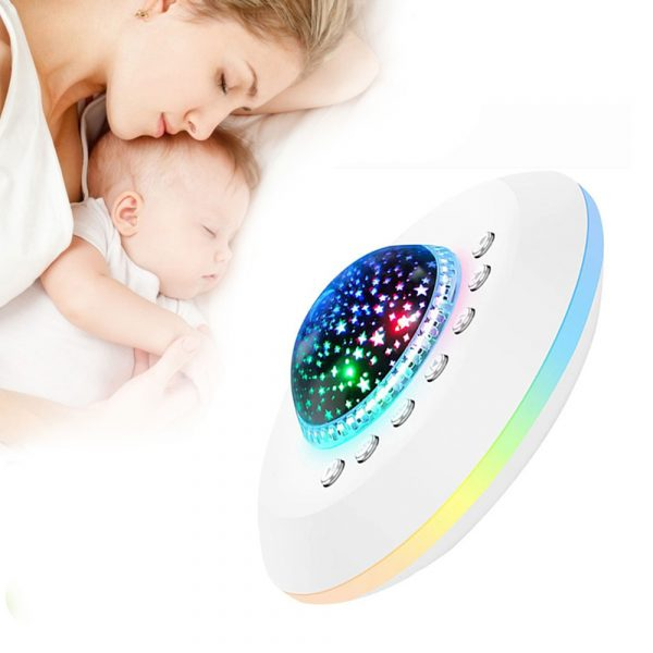 Multifunctional White Noise Machine with Star Projector Lamp_4