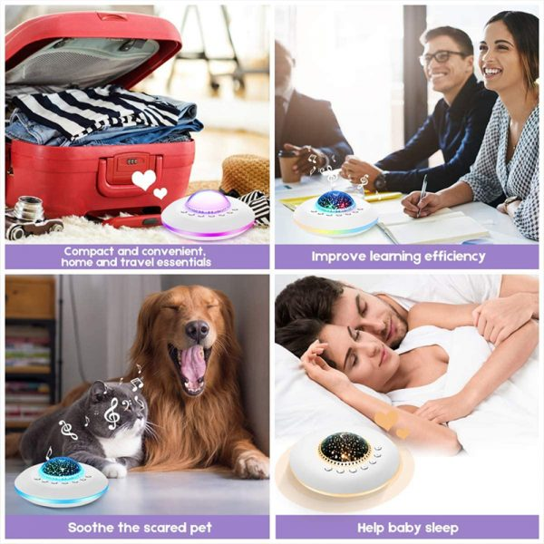 Multifunctional White Noise Machine with Star Projector Lamp_10