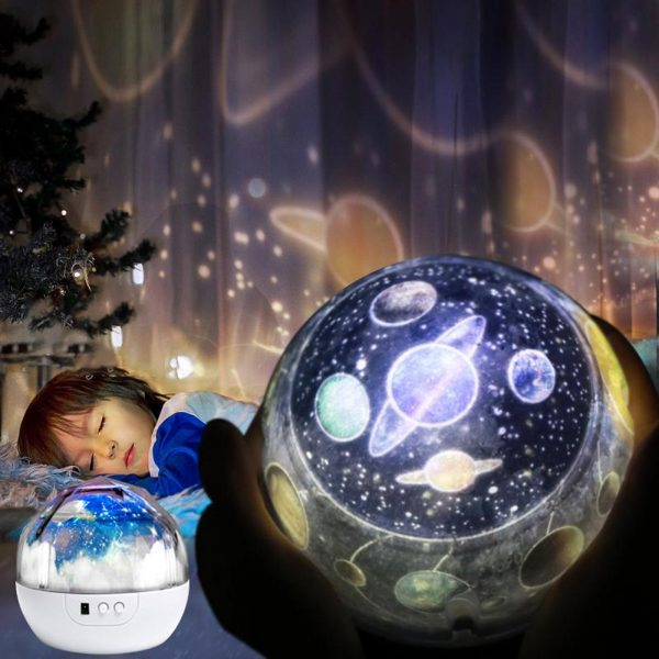 LED Night Lamp Projector Rotating Light with 5 Different Patterns_2