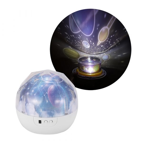 LED Night Lamp Projector Rotating Light with 5 Different Patterns_12