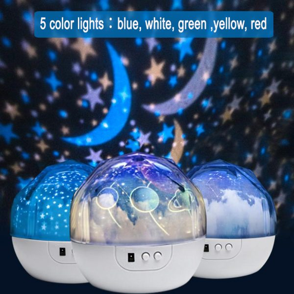 LED Night Lamp Projector Rotating Light with 5 Different Patterns_7