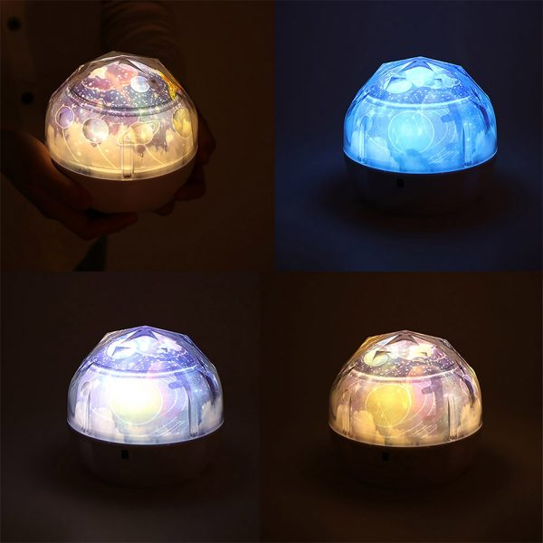 LED Night Lamp Projector Rotating Light with 5 Different Patterns_10