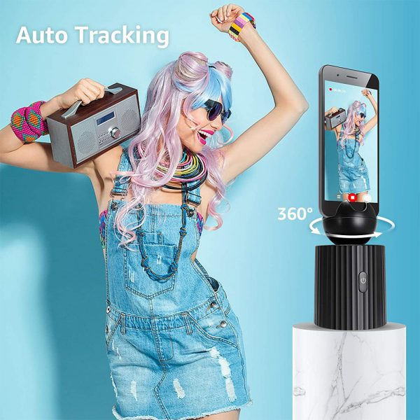 AI Smart Live Broadcast 360° with Face Recognition Phone Holder_4