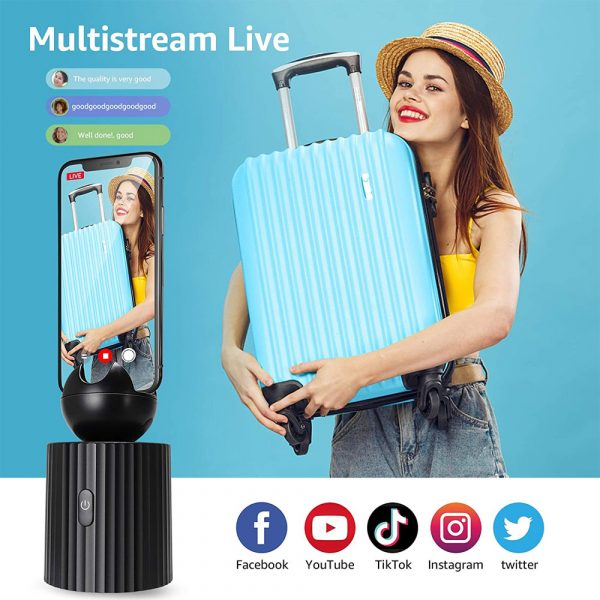 AI Smart Live Broadcast 360° with Face Recognition Phone Holder_6