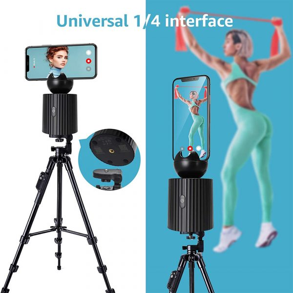 AI Smart Live Broadcast 360° with Face Recognition Phone Holder_7