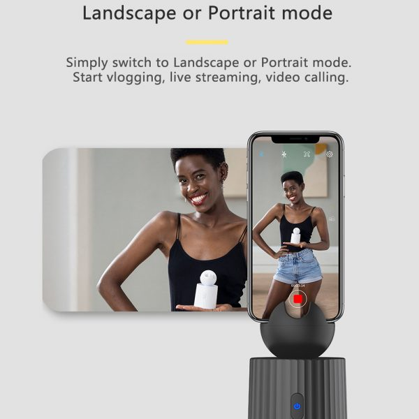 AI Smart Live Broadcast 360° with Face Recognition Phone Holder_11