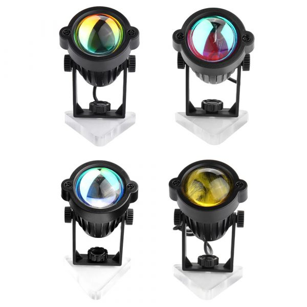 LED Multi-Color Sunset and Rainbow Spotlight Projector_3