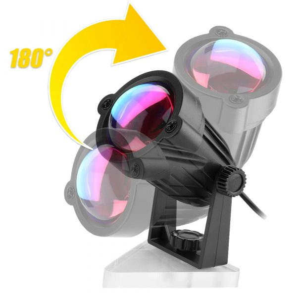 LED Multi-Color Sunset and Rainbow Spotlight Projector_15