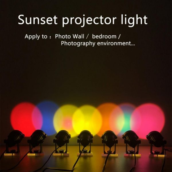 LED Multi-Color Sunset and Rainbow Spotlight Projector_18