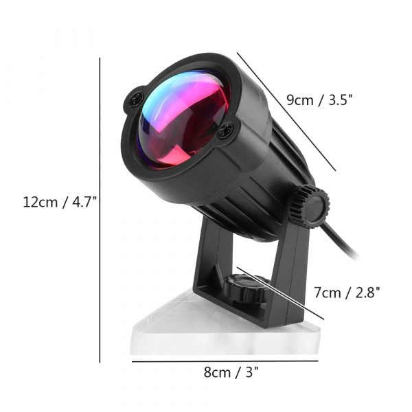 LED Multi-Color Sunset and Rainbow Spotlight Projector_17