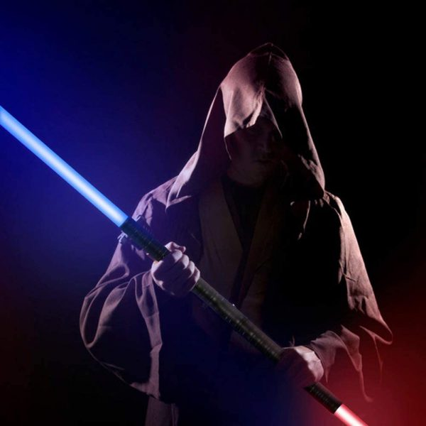 Heavy Handle Rechargeable LED Light Saber Kid's Toy Sword_2