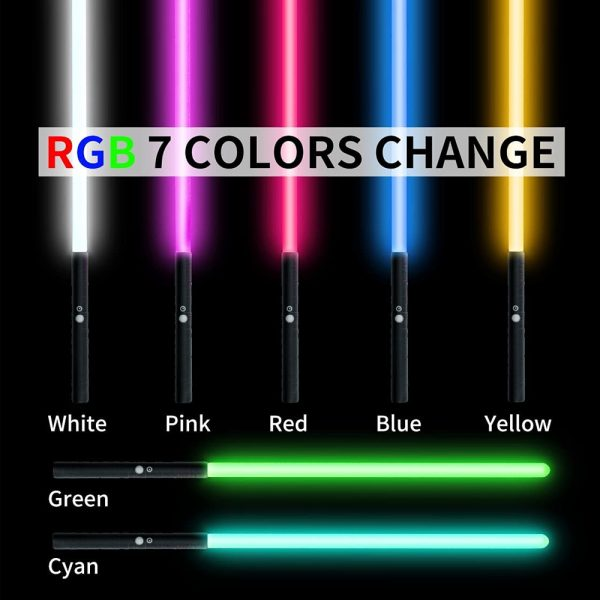 Heavy Handle Rechargeable LED Light Saber Kid's Toy Sword_4