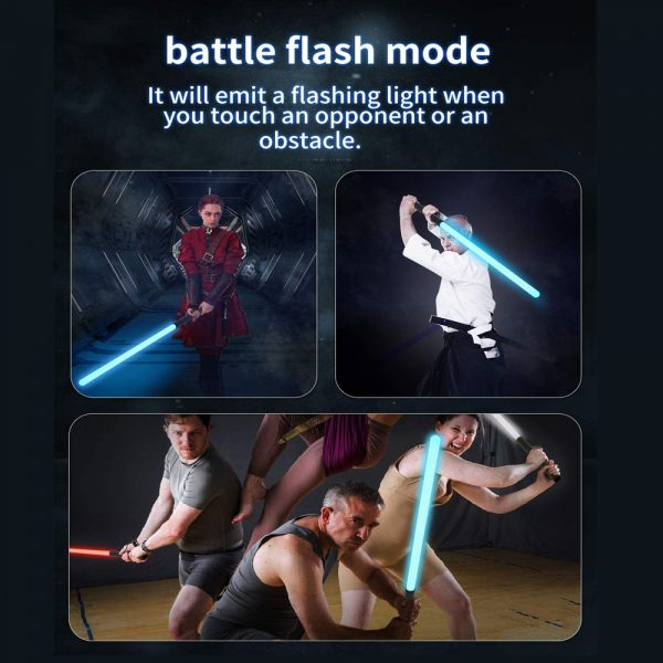 Heavy Handle Rechargeable LED Light Saber Kid's Toy Sword_7