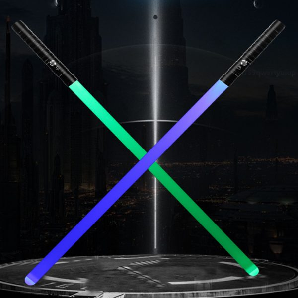 Heavy Handle Rechargeable LED Light Saber Kid's Toy Sword_10