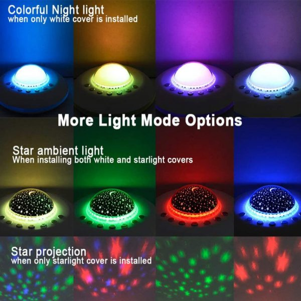 Multifunctional White Noise Machine with Star Projector Lamp_11