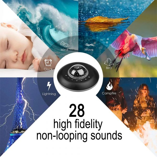 Multifunctional White Noise Machine with Star Projector Lamp_8
