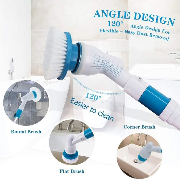 Rechargeable Cordless Turbo Power Electric Spin Scrubber_8
