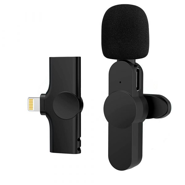 Plug-and-Play Wireless Microphone Portable Clip-on Mic_1