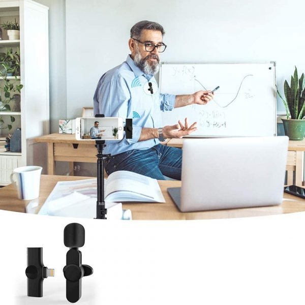 Plug-and-Play Wireless Microphone Portable Clip-on Mic_2