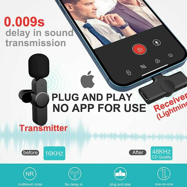 Plug-and-Play Wireless Microphone Portable Clip-on Mic_7