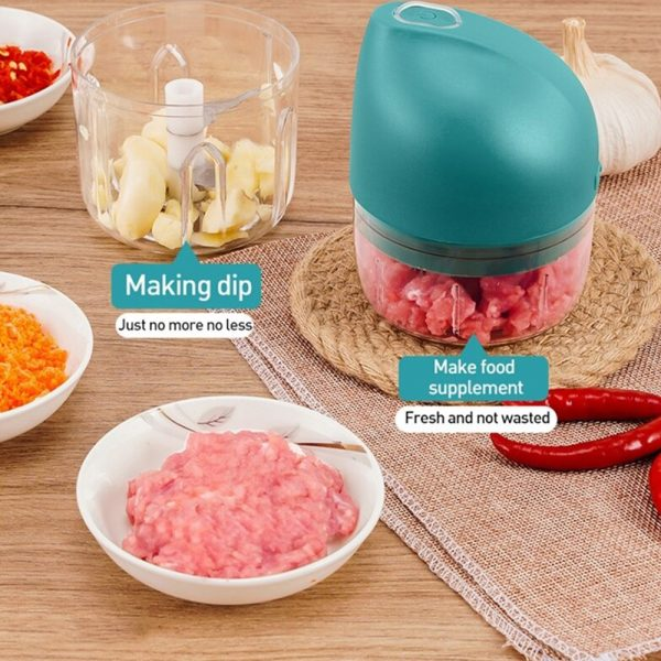 Rechargeable Mini Electric Food Chopper and Meat Grinder_8