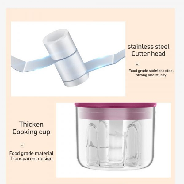 Rechargeable Mini Electric Food Chopper and Meat Grinder_20