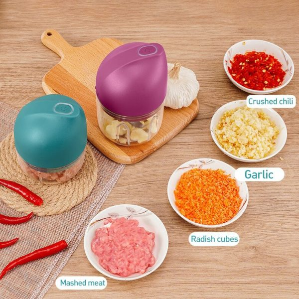Rechargeable Mini Electric Food Chopper and Meat Grinder_9