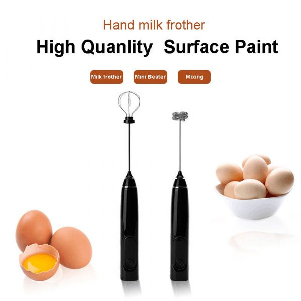 USB Rechargeable Automatic Milk Frother and Egg Beater_3