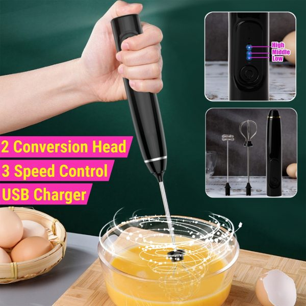 USB Rechargeable Automatic Milk Frother and Egg Beater_11