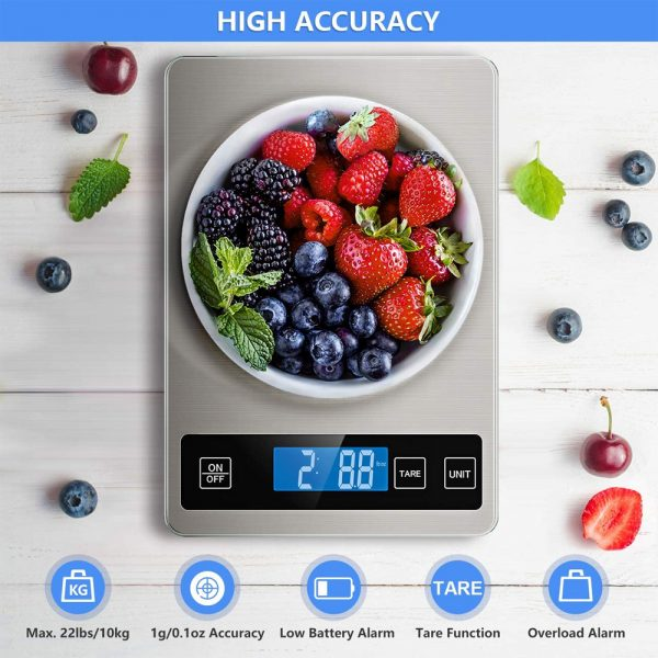 Battery Operated Stainless Steel Digital Kitchen Scale_0