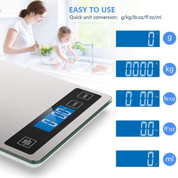 Battery Operated Stainless Steel Digital Kitchen Scale_1