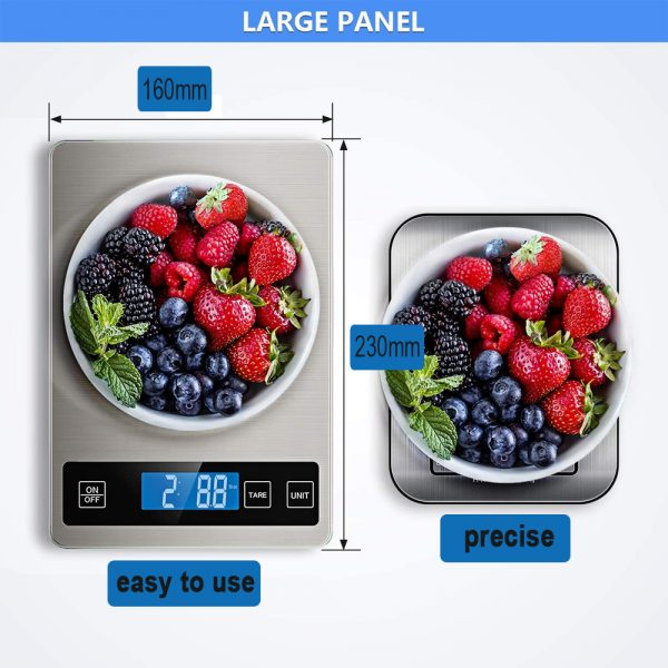 Battery Operated Stainless Steel Digital Kitchen Scale_2