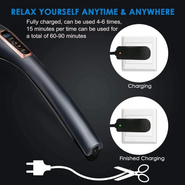 Electric Handheld Back Massager with 6 Interchangeable Heads_14