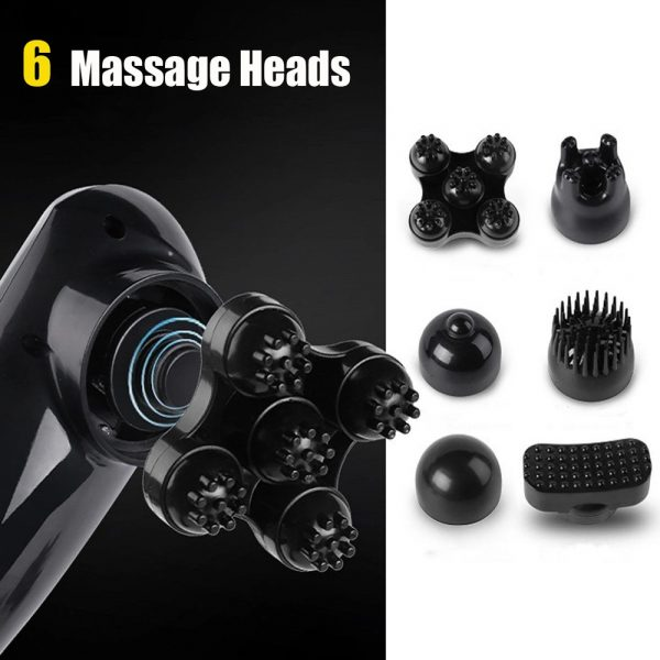 Electric Handheld Back Massager with 6 Interchangeable Heads_7