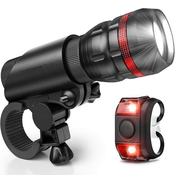 Battery Operated Bicycle Front and Tail Light Bike Safety Light_0