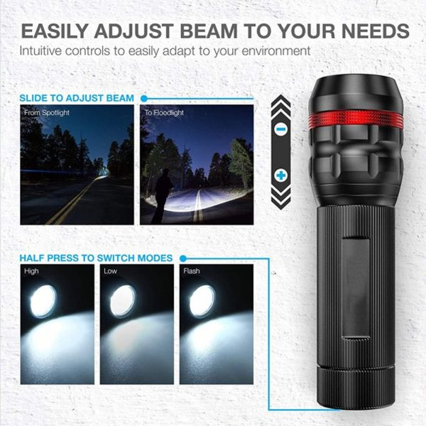 Battery Operated Bicycle Front and Tail Light Bike Safety Light_3
