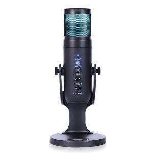 RGB USB Condenser Microphone for Gaming and Streaming