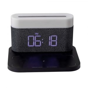 3-in-1 Wireless Charger Alarm Clock and Adjustable Night Light