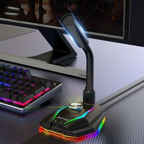 USB Interface RGB Noise Reduction Computer Microphone_6