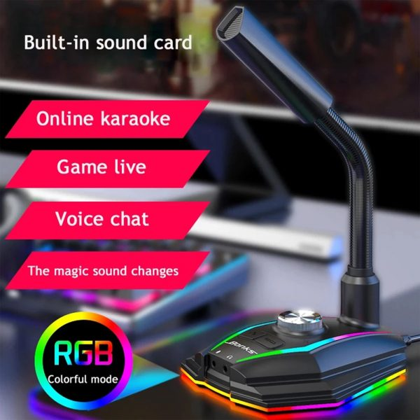 USB Interface RGB Noise Reduction Computer Microphone_7