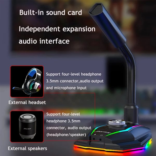 USB Interface RGB Noise Reduction Computer Microphone_8