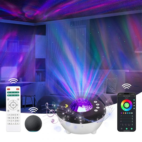 Galaxy Projector with White Noise Bluetooth Remote Speaker_2