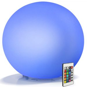 Color Changing LED Night Light Ball with Remote and Button Control