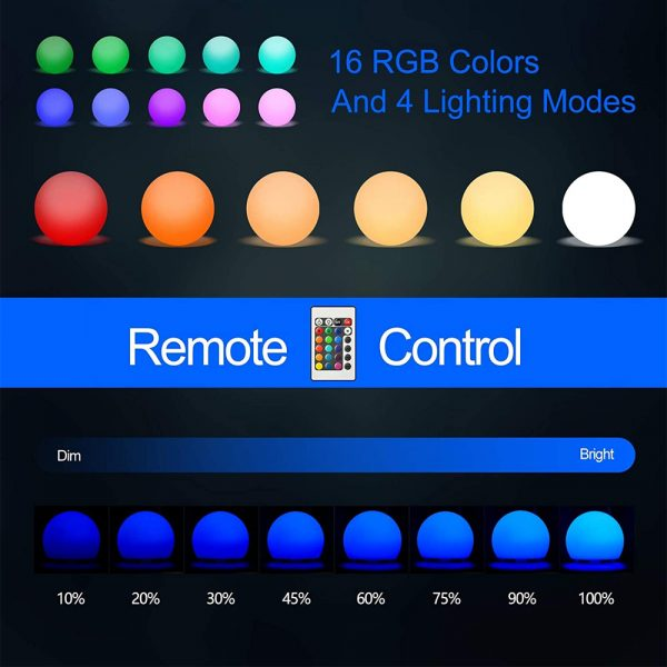Color Changing LED Night Light Ball with Remote and Button Control_5