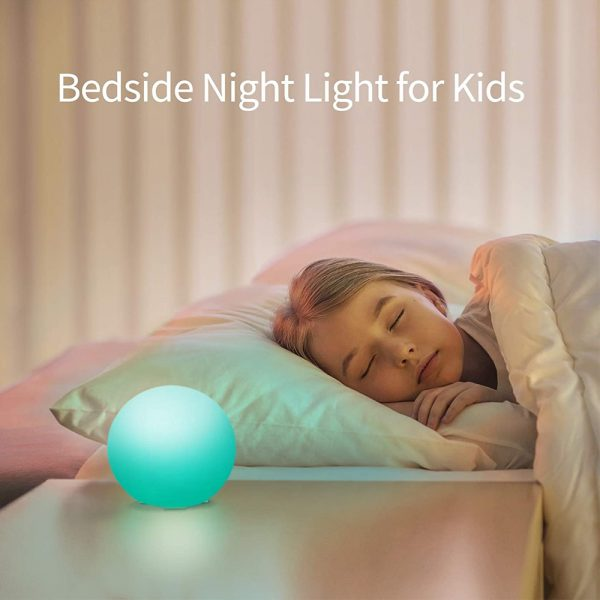 Color Changing LED Night Light Ball with Remote and Button Control_7