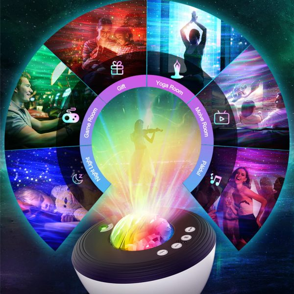 Galaxy Projector with White Noise Bluetooth Remote Speaker_7