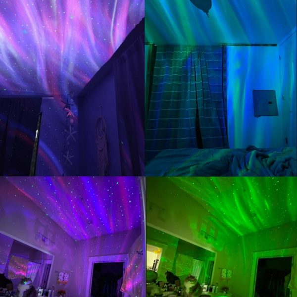 Galaxy Projector with White Noise Bluetooth Remote Speaker_8