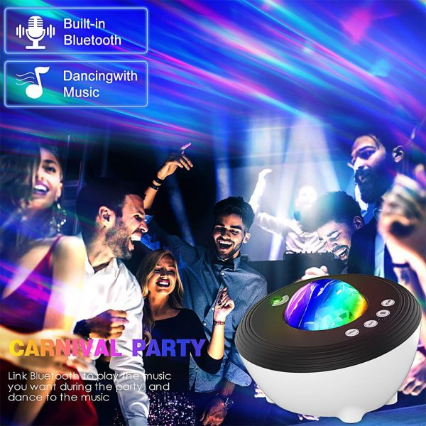 Galaxy Projector with White Noise Bluetooth Remote Speaker_4
